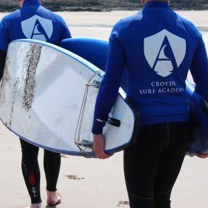 Surf lesson at Croyde Surf Academy