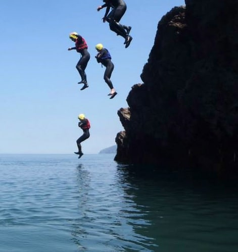 Coasteering Session at Croyde Surf Academy