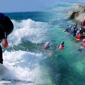 Coasteering Session & Surf Lesson package - £75 p.p.