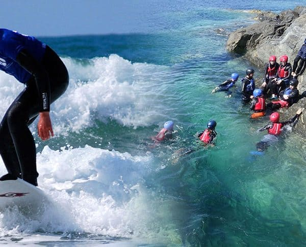 Coasteering and Surf Lesson